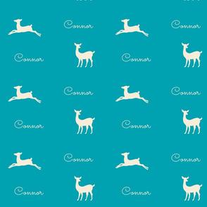 Deer 2 Personalzed - turquoise cream
