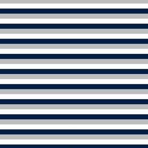 stripes // navy blue and grey stripes kids boys nursery coordinate