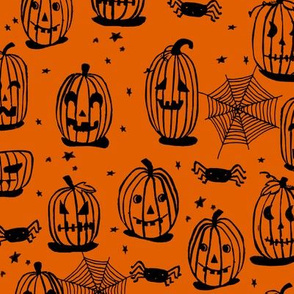 pumpkin // pumpkins jack o lanterns orange halloween spooky scary fabrics