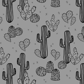 cactus // grey cacti plants simple trendy kids plants