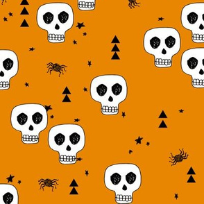 skulls // halloween orange kids baby october spider creepy spooky