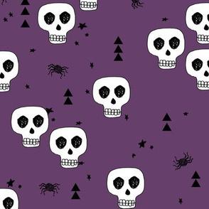 skulls // halloween skulls purple creepy spider spooky halloween