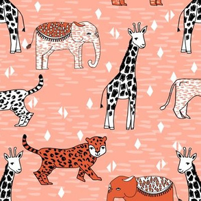 jungle // safari animals kids baby cute cheetah elephant giraffe zoo