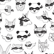 bandit animals // kids dress up cute masks robbers cute kids play time