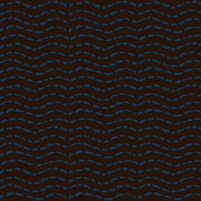 stitching wave blue/brown