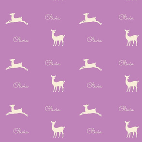 Deer 2 Personalzied - lavender cream