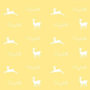 Deer 2 Personalzied - yellow white