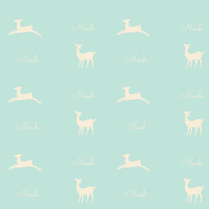 Deer 2 Personalzied - seafoam cream