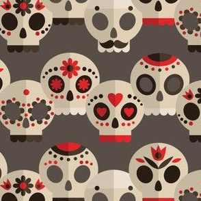 Red and Grey Skulls