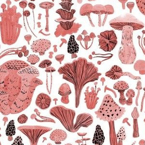 Mushroom Bounty in red