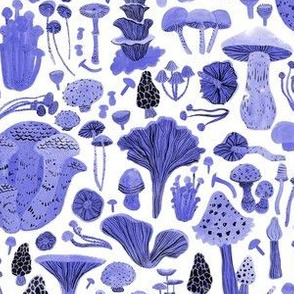 Mushroom Bounty in Indigo