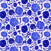 Mushroom Hunter in blue