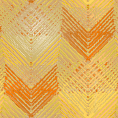 Shiny Orange Chevron Log Cabin