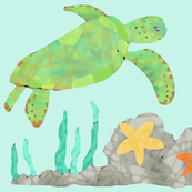Painted Sea Turtle - Large