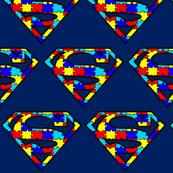 Primary Colors Rainbow Superhero Puzzle