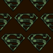 Army Green Camo Superhero Puzzle Pieces