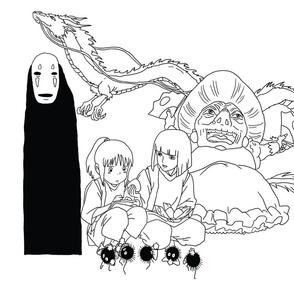 Spirited Away Inspired Japanese Anime Print