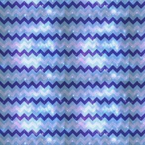 Blue Space Chevrons