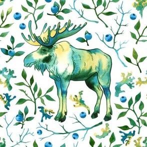 Watercolor elk