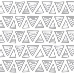 Triangulate Geometric White & Grey