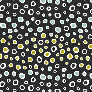 Dew Drops Geometric Dot Black