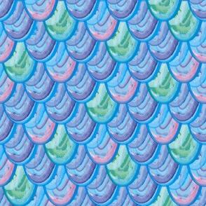 Rainbow scales - blue/purple/pink/teal