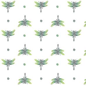 dragonflies green