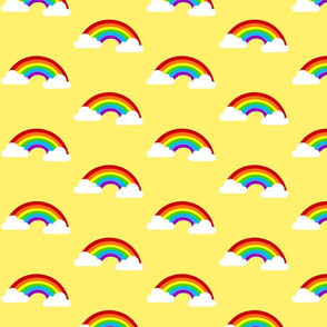 Large Rainbows with Clouds - Yellow