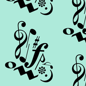 Music Butterfly Side Profile in Sky Blue