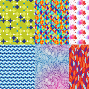 Print Blocks Abstract Designs Fat Quarter