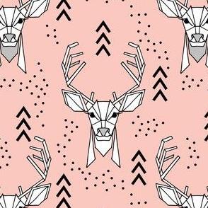 Deer geometric // Pink and Black