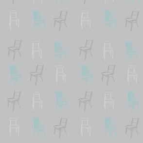 Chairs '50s lagoon