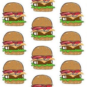 "Burger on White 2.5"" x 2.5"""