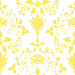 Floral Damask Yellow RGB-f9ea62
