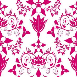 Floral Damask Magenta RGB-D5006B