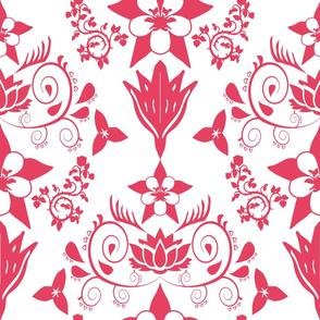 Floral Damask Magenta RGB-E64161