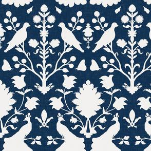 Oiseaux // Navy Linen