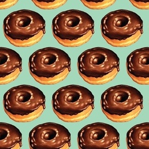 Chocolate Donut - Teal