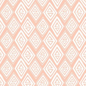 Diamond In The Rough Geometric Pink