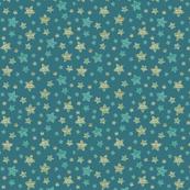 Starfish in the teal Ocean