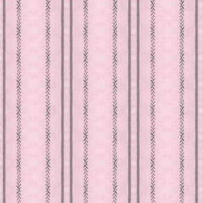 Pink and Grey Pillow Ticking