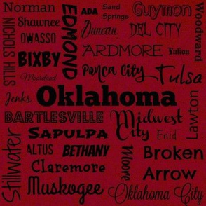 Cities of Oklahoma, red