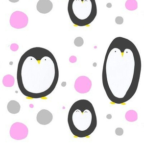 Penguin Dots - nursery, animal print, kids, polka dots