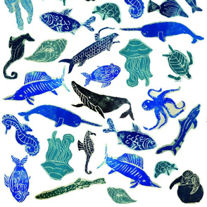 Ocean_Creatures_Block_Prints