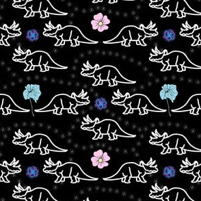 Floral Dinosaur Color Splash