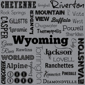 cities of Wyoming, grey