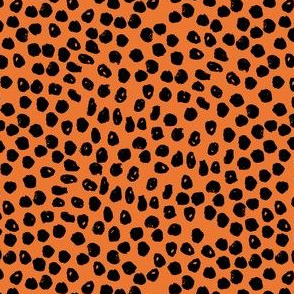 orange dots // dots halloween orange and black