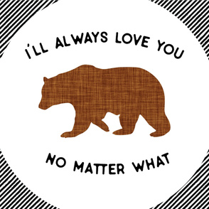 Baby Blanket // I'll Always Love You, No Matter What // Brown Bear