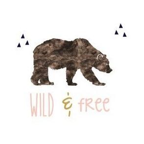 Wild & Free - brown, mustard, blush and navy