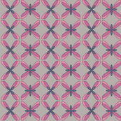 Abstract Dragonfly Floral (pink)